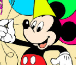 Happy Mickey Mouse Coloring - 2014