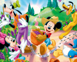 mickey mouse garden col - Mickey Mouse Colouring Games