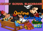 Mickey School Blackboard …