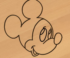 Wood Carving Mickey Mouse
